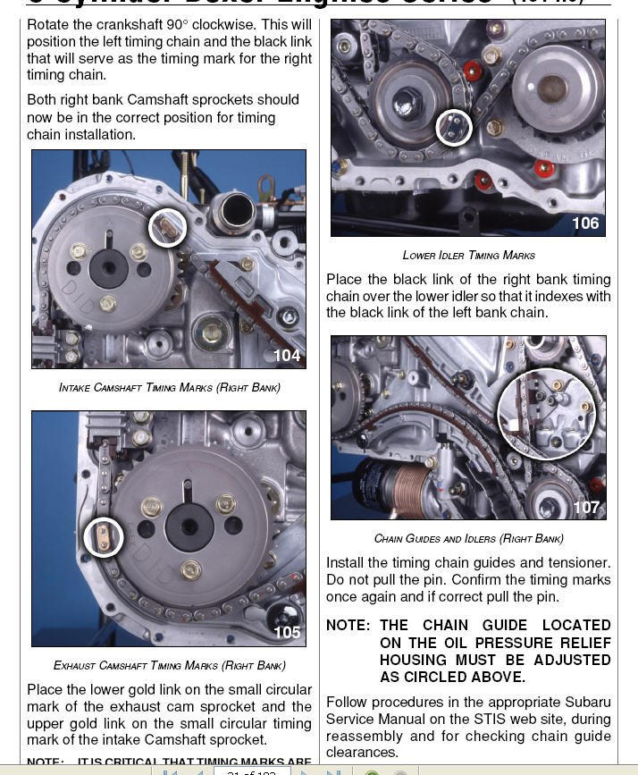 3 0 H6 Timing Chain and Guide Discussion | Page 6 | Subaru
