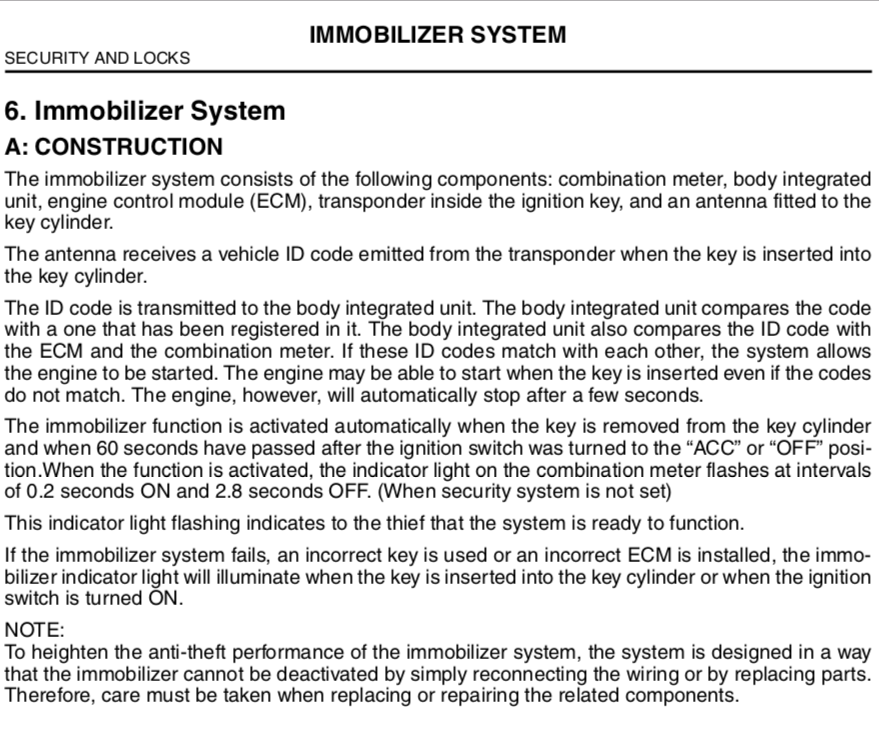 Immobilizer Reverse Engineering (2005 OBXT, probably other