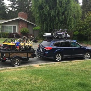 6 day trip 4 bikes, two kids plus parents