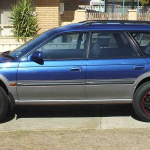 my Outback with lift and new tyres
