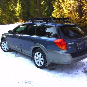 My new (to me) 06 Outback 2.5i 5MT Atlantic Blue