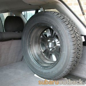 "Interior Spare mount for ""oversize"" tyre"