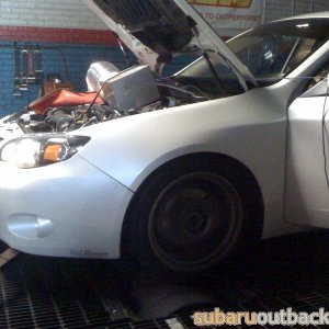 Mikey's wrx on the dyno