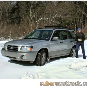 A Friend With Her New Forester